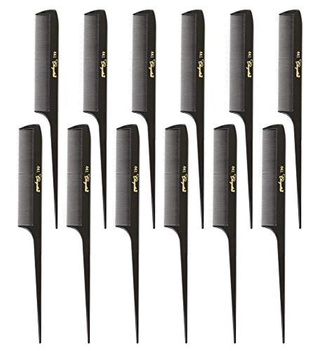 ブレイズばかげたナインへKrest Cleopatra 8-1/2 inch Rattail Combs Extra Fine Tooth. Rat Tail Model #441 Dark Brown. 1 Dozen [並行輸入品]