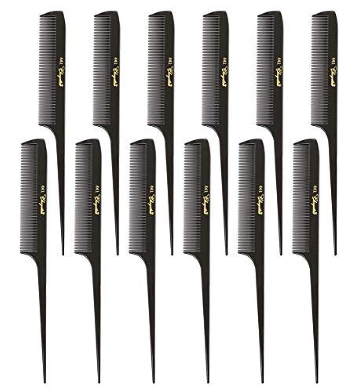 シネマいつでもリハーサルKrest Cleopatra 8-1/2 inch Rattail Combs Extra Fine Tooth. Rat Tail Model #441 Dark Brown. 1 Dozen [並行輸入品]