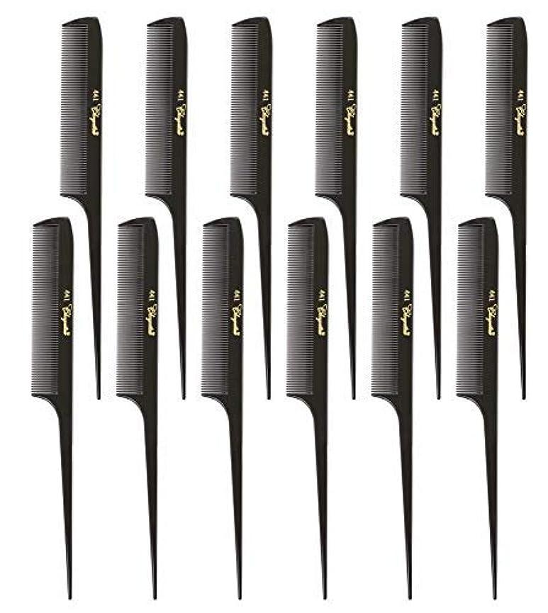 ペット行き当たりばったり回復Krest Cleopatra 8-1/2 inch Rattail Combs Extra Fine Tooth. Rat Tail Model #441 Dark Brown. 1 Dozen [並行輸入品]