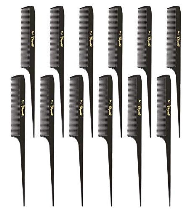 積極的にロマンチックタイトルKrest Cleopatra 8-1/2 inch Rattail Combs Extra Fine Tooth. Rat Tail Model #441 Dark Brown. 1 Dozen [並行輸入品]
