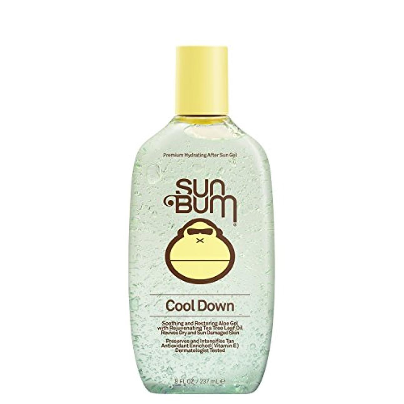 メナジェリーつぼみ平らな日焼け後に Sun Bum Cool Down Hydrating After Sun Aloe Gel 8ozBottle
