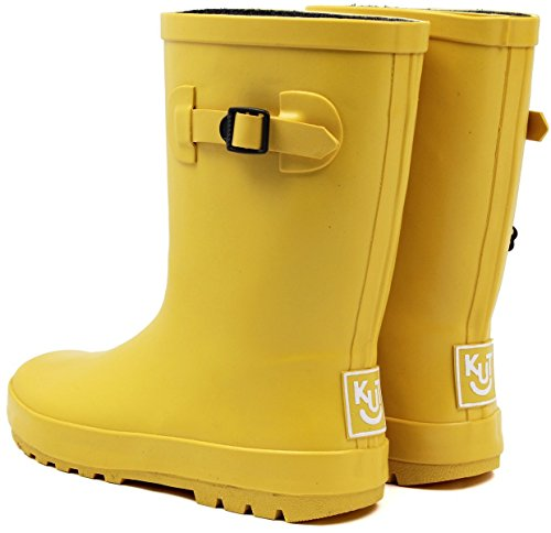 (ノーブランド品) 長靴 キッズ ジュニア レインブーツ 男の子 女の子 子供長靴 18cm【即納】 【50.イエロー】
