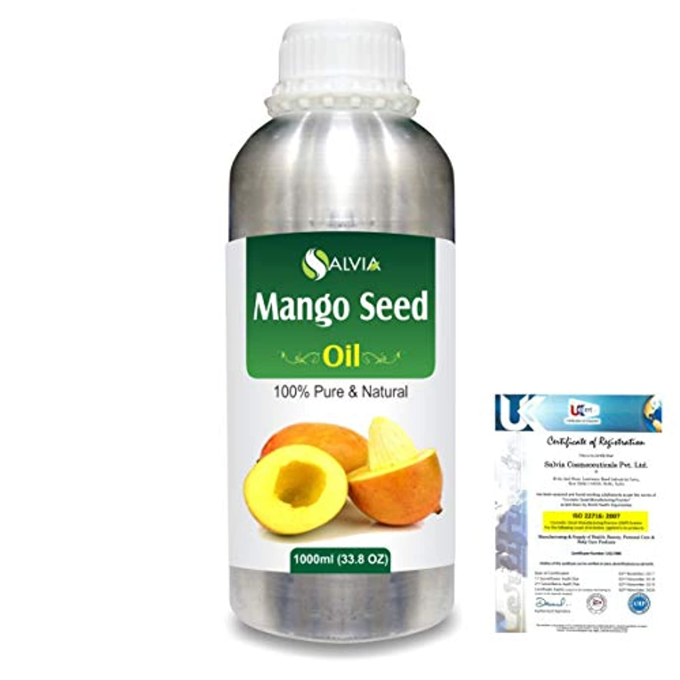 どれ尽きるチームMango Seed (Mangifera indica)100% Natural Pure Carrier Oil 1000ml/33.8fl.oz.