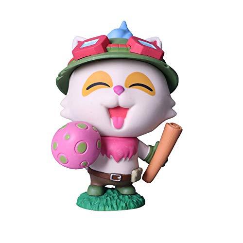 伝説TeemoハンドメイドのおもちゃリーグLOLタイム人形人形コスプレ帽子アクションフィギュア (Color : Pink)
