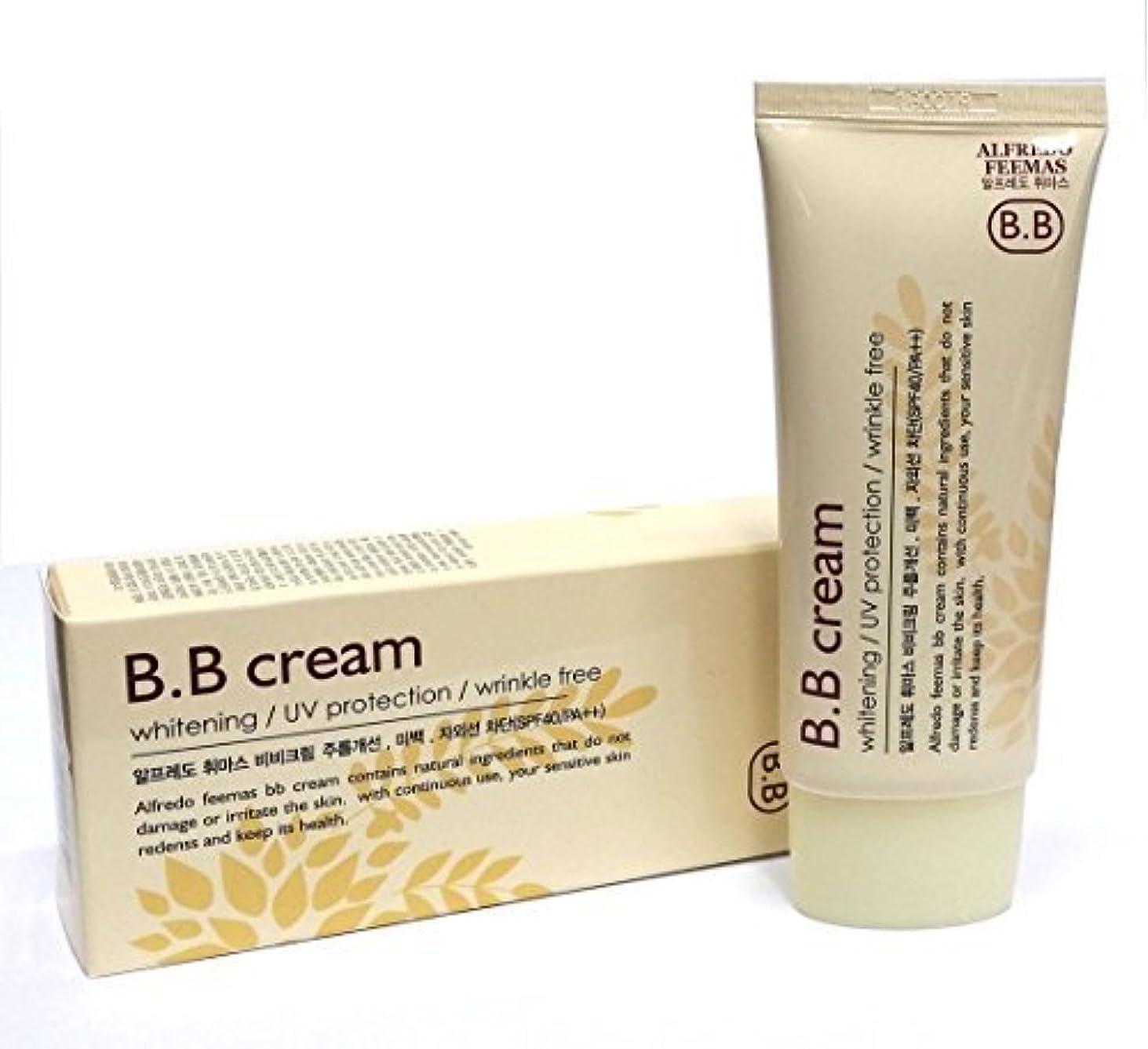 切手見て一致[ALFREDO FEEMAS] シャイニングBBクリームホワイトニング日焼け止めSPF40 PA++ 50ml / 韓国化粧品 / Shining BB Cream Whitening Sunblock SPF40 PA...