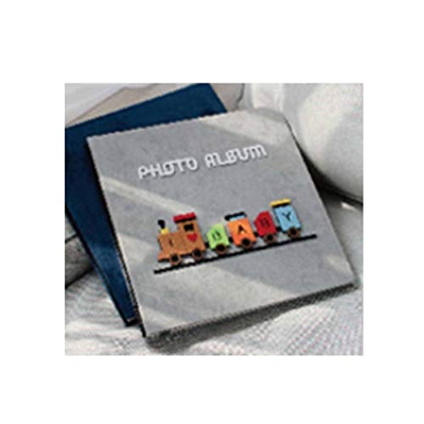 持ってるバスケットボール種をまくNTSM フォトアルバム、粘着性のある伝統的なフォトアルバム、手作りの漫画の赤ちゃん子供の成長記録簿(400枚の写真を収容可能、グレー) (Color : C)