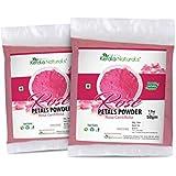 Rose Petals Powder (Rosa Centifolia) for Anti Ageing- 100gm (50gm x 2 Packs) - Rejuvenating and Moisturising Face...