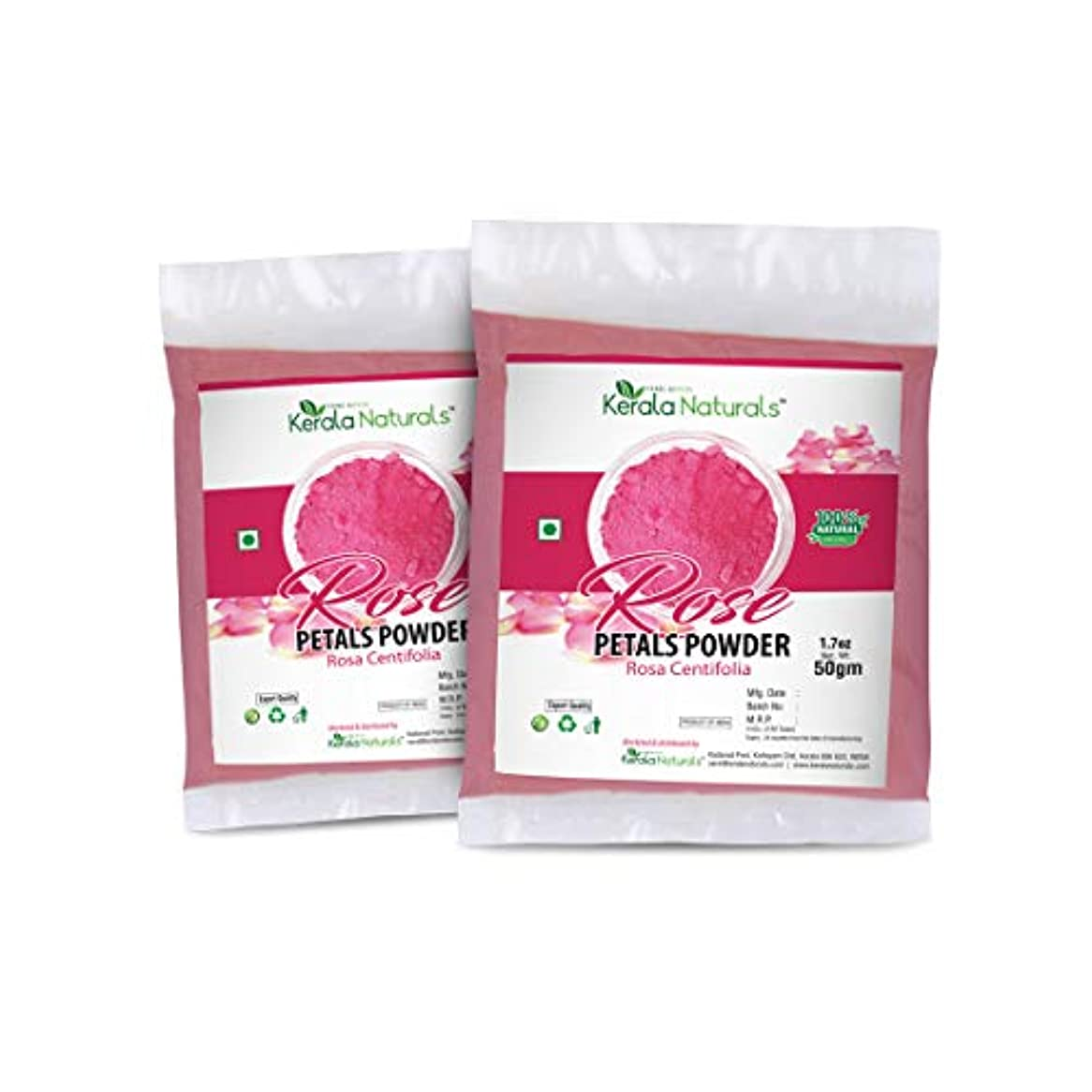 盆証明純粋にRose Petals Powder (Rosa Centifolia) for Anti Ageing- 100gm (50gm x 2 Packs) - Rejuvenating and Moisturising Face...
