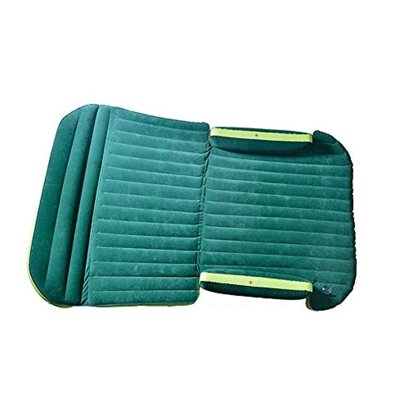 カビタクシーピッチャー屋外リクライニングチェアアームチェアの良い選択 屋外旅行パボーニ車インフレータブルエアキャンプマットレスパッド - ミニバン - クイックインフレ/デフレ - 耐久性と快適 (色 : 緑, サイズ : 190*130cm)