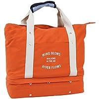 (キープビン) Keepbin マザーズバッグ トートバッグ ショルダーバッグ キャリーバッグ キャンバス レディース 大容量 2層式 2way シューズ収納 ジムバッグ 旅行バッグ 一泊