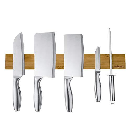 磁気包丁立て、BelleJoomu 40 CM竹木製ナイフストリップバー、ナイフホルダー、ナイフストリップ、キッチン用品ホルダー
