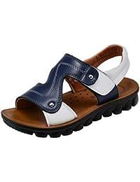 COMVIP 夏用靴 男の子 軽量 カジュアル ベビー サンダル 滑り止め ファッション キーズシューズ プレゼント 普段用 通園 歩きやすい ブルー
