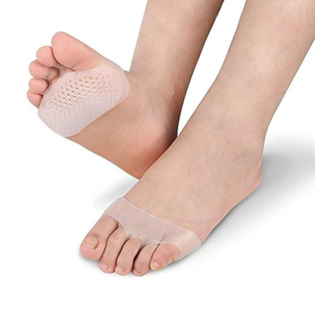 TerGOOSE 足裏保護パッド 足裏サポート シリコンパッド 透明 足矯正 外反母趾サポーター インソール 前ズレ防止 靴擦れ防止 つま先の痛み緩和 柔らかい 滑り止め 足裏のマメ 魚の目 タコ対策にも効果的 両足セット