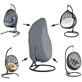 Silvotek Patio Hanging Chair Cover - Waterproof Outdoor Hanging Egg Chair Cover with Durable Hem Cord, 210D Oxford Wicker Egg