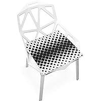 座布団 低反発 水玉 黒白 ビロード 椅子用 オフィス 車 洗える 40x40 かわいい おしゃれ ファスナー ふわふわ fohoo 学校