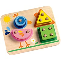 Djeco 1 2 3 4, bird Lift-Out Wooden Puzzle