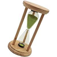 Dovewill 緑砂 実用 タイミングツール 5分 砂時計 キッチンツール タイマー