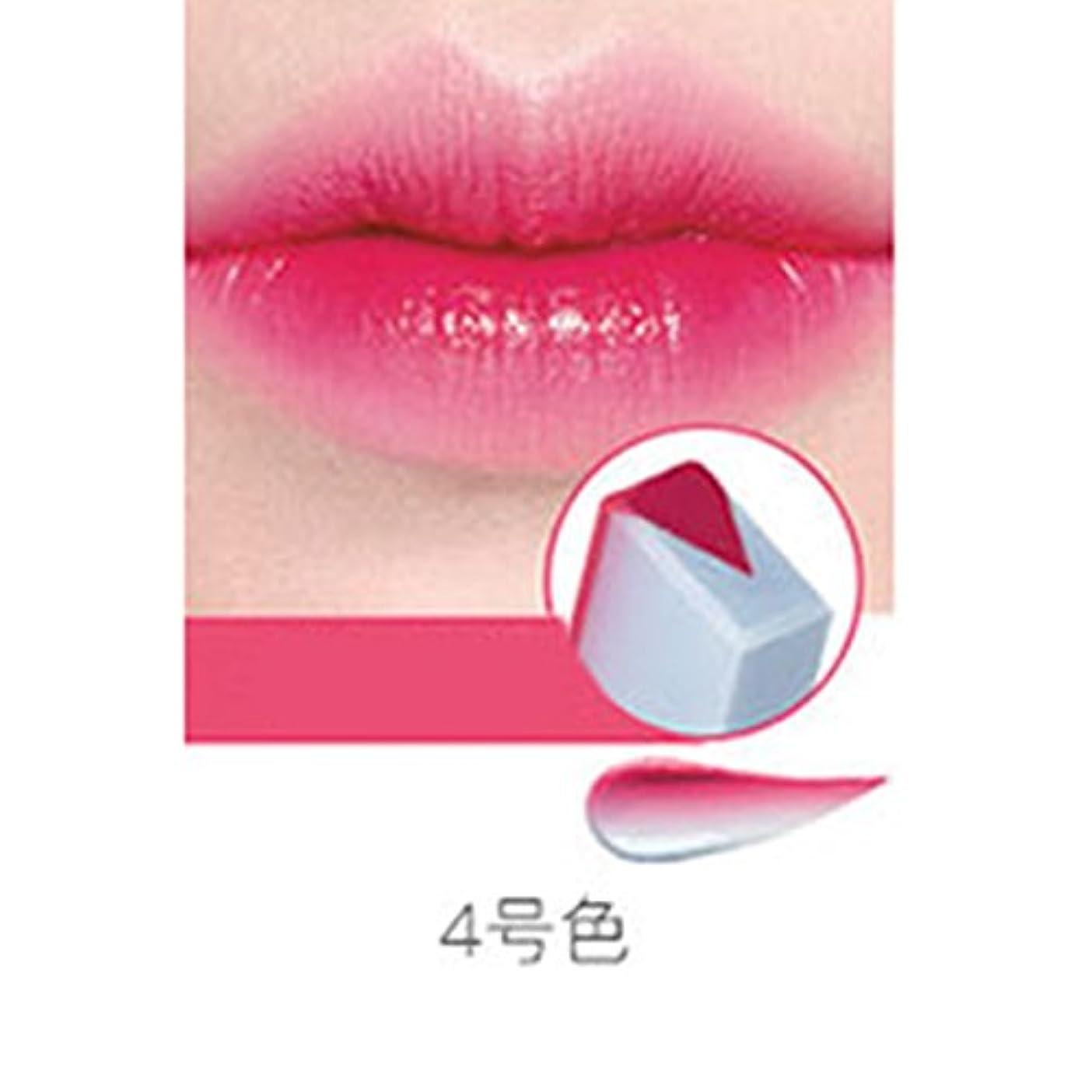 サーカス感染する三十RaiFu リップスティック ペンシル リップバー 女性 ファッション グラデーションカラー マット メイクアップ フルーツ スモークツートーン ティント 04#ベリースカイ