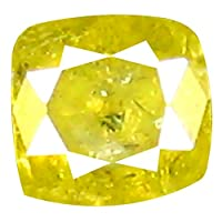 ダイヤモンド ルースダイヤモンド 0.12 ct Cushion Shape (3 x 3 mm) Fancy Yellow Diamond Genuine Loose Diamond