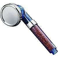 MyMei シャワーヘッド 汎用 3段階モード 節水 増圧 調節可能 (ブルー)