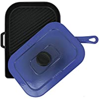 Chasseur 10-inch Blue French Enameled Cast Iron Panini Press by Chasseur [並行輸入品]