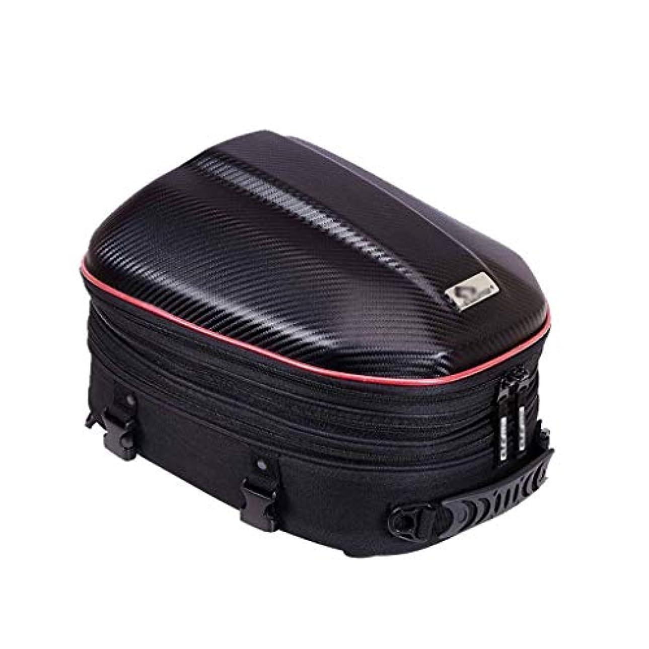メール持ってる再発するオートバイテールバッグ/拡張可能なシートバッグ多機能ハードシェルPU防水スポーツオートバイシートバックツールバッグ荷物キャリーバッグバイクストレージタンクバッグ-赤