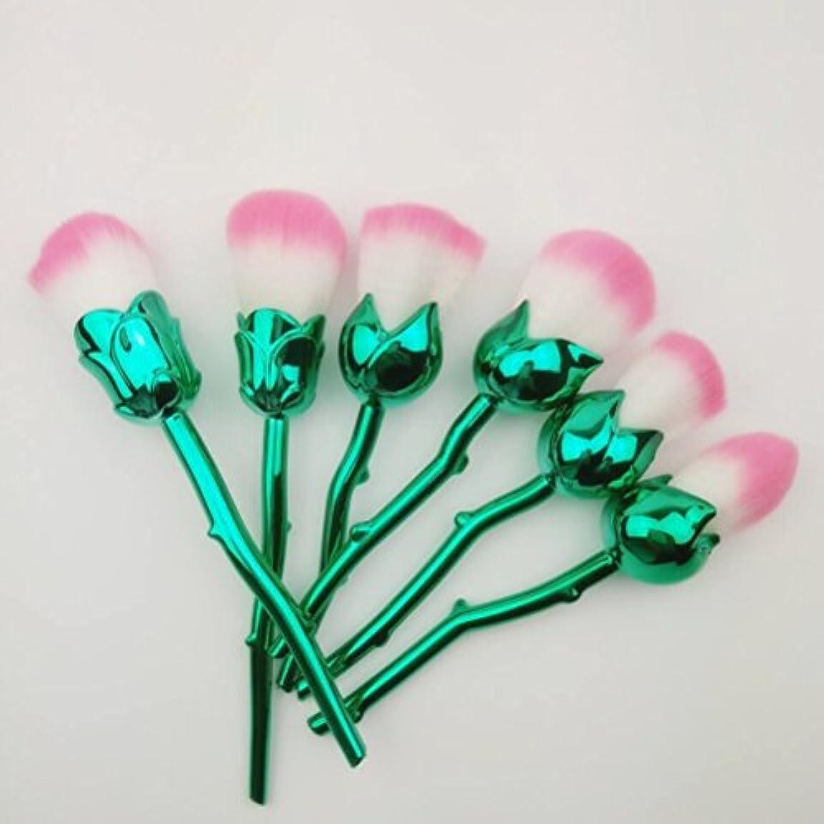 ブランクに応じてシャッフルディラビューティー(Dilla Beauty) メイクブラシ 薔薇 メイクブラシセット 人気 ファンデーションブラシ 化粧筆 可愛い 化粧ブラシ セット パウダーブラシ フェイスブラシ ローズ メイクブラシ 6本セット ケース付き (電気メッキ)