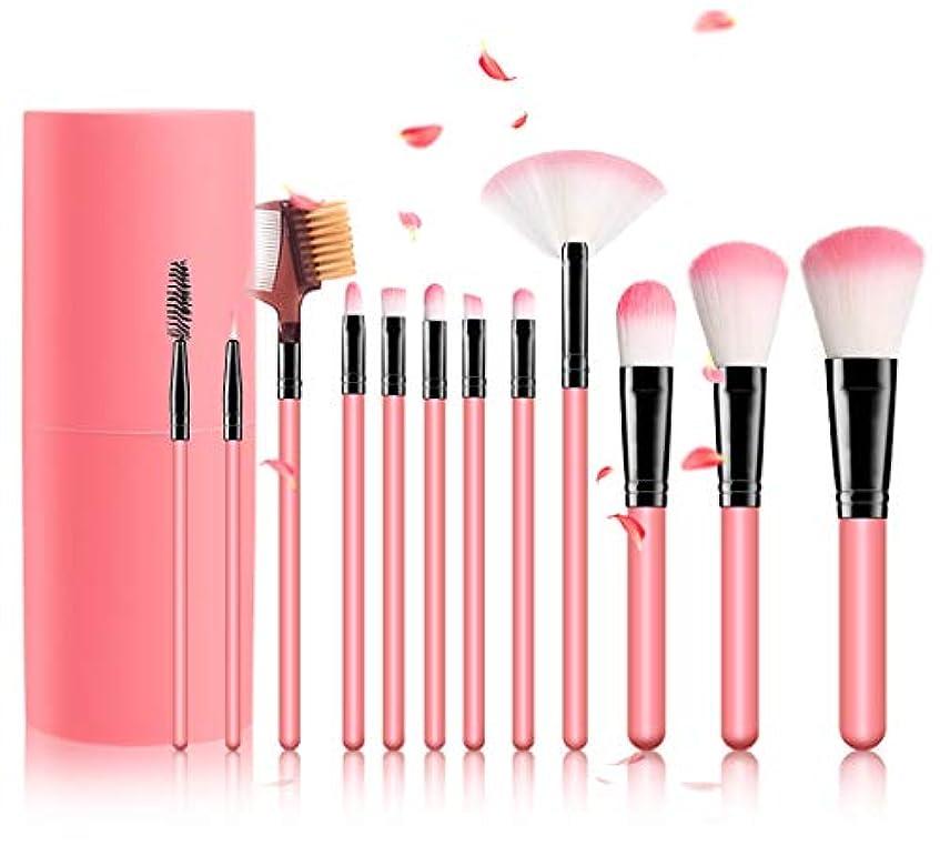 相手金曜日休眠メイクブラシ メイクセット 化粧ブラシセット 化粧筆セット 12本 ふわふわ 化粧ブラシ 多機能 パウダーブラシ
