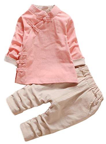 61d433c7010f6  ミートン  子供服 セットアップ トップス 無地 女の子 ロングパンツ キッズ ベビー服 長袖 上下 2