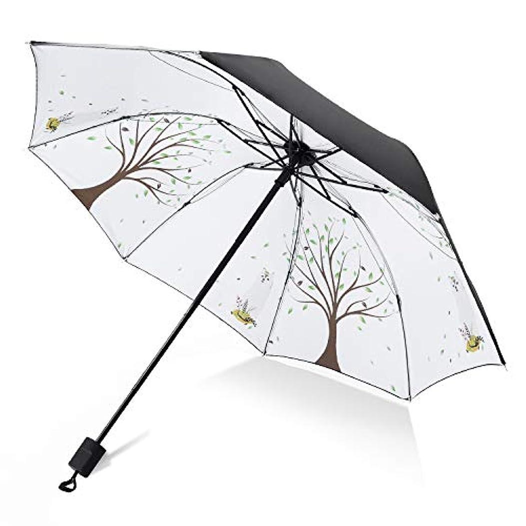 拒絶する住居霧Kimiper 2019最新版 折りたたみ傘 日傘 レディ傘 軽量 UVカット率99.9% 晴雨兼用 強風に耐えられ 超撥水 完全遮光