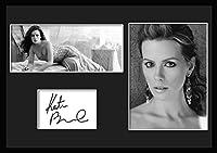 10種類! ケイト・ベッキンセイル/Kate Beckinsale /サインプリント&証明書付きフレーム/BW/モノクロ/ディスプレイ/3W (09) [並行輸入品]
