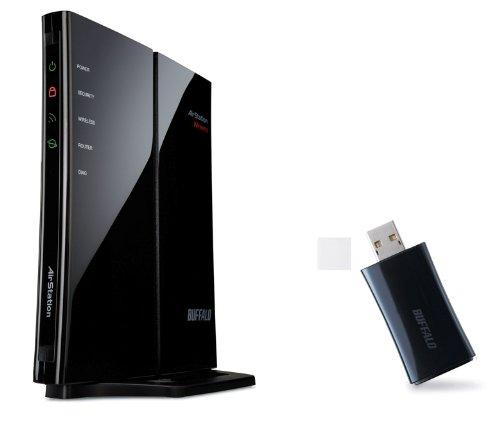 BUFFALO Qrsetup 11n/g 300Mbps 無線LAN親機 子機付 WHR-300/U