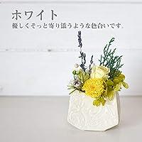 お供え 仏花 お盆 初盆 プリザーブドフラワー 仏壇の花 お供え アレンジメント ギフト (ホワイト) pz013