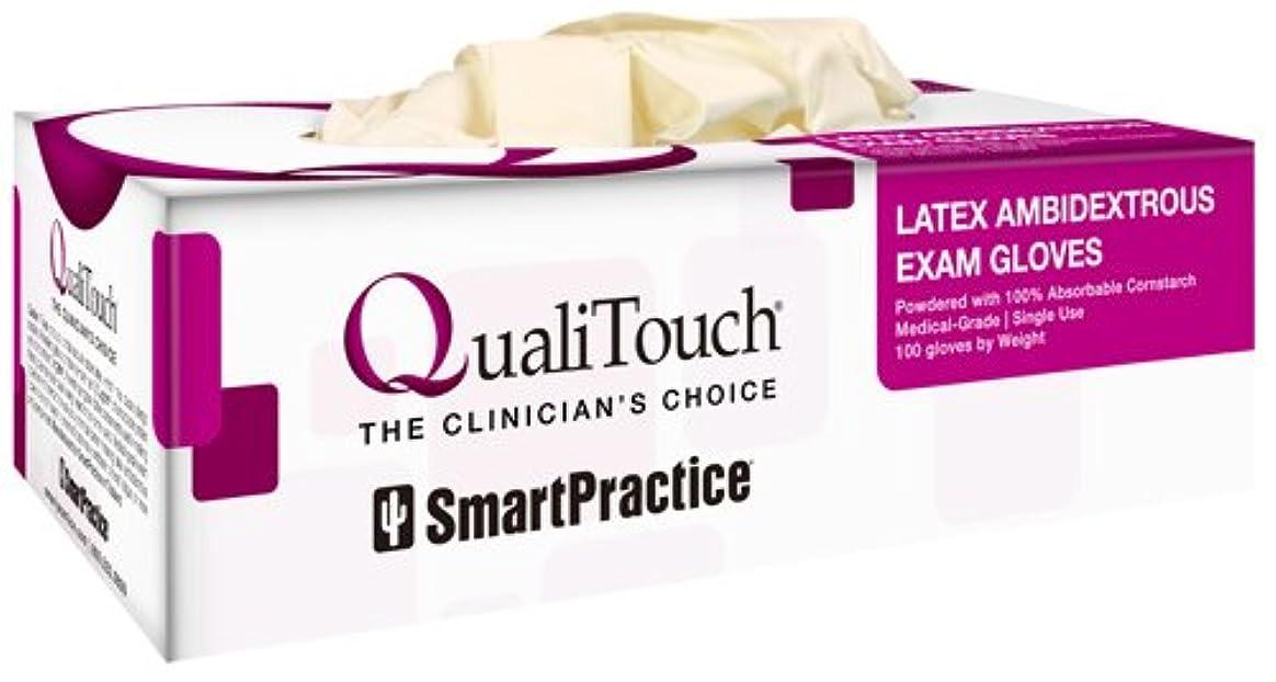 発生するヘロイン予言するQuali Toch(クオリタッチ) 医療用ラテックスグローブ 100枚入り 1箱 (XS)