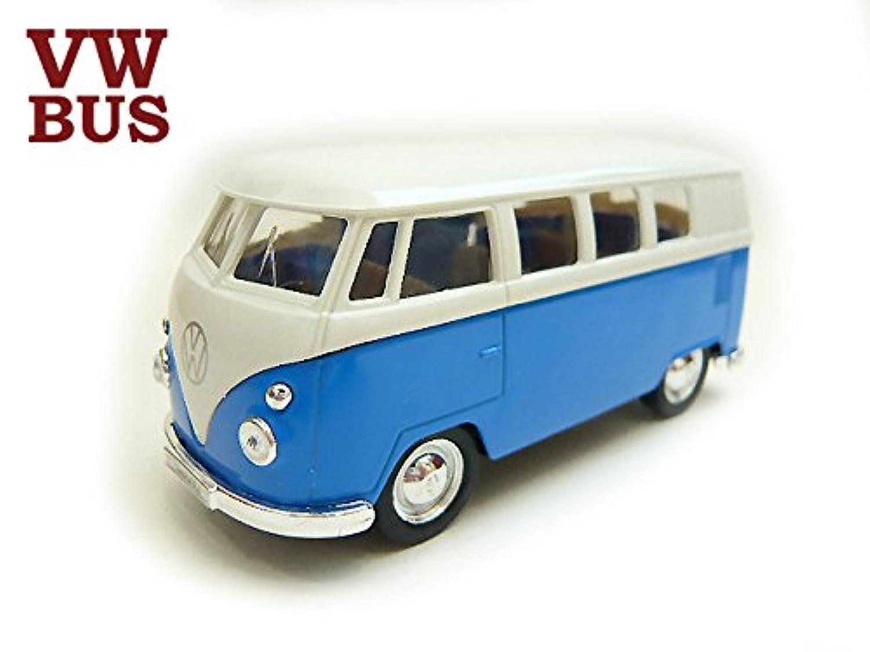 新■1/37■ワーゲン タイプ2 バス■青 1台■VW■プルバック ミニカー おもちゃ 男の子 車