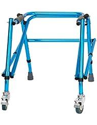 LINrxl 子供下肢トレーニングとリハビリテーション機器/立ち歩行スタンド/ウォークエイド/ウォーカー/スタンドフレーム付きホイールリハビリ機器