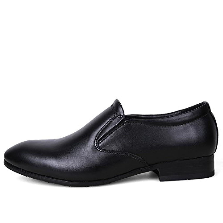 ランク電話をかけるインターネットSkoad ビジネスシューズ メンズ 革靴 靴 ロングノーズ フォーマル レースアップ モンクストラップ ヒールアップ 紳士靴