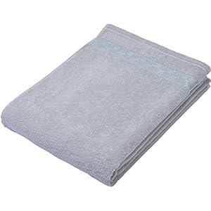 京都西川 タオルケット シングル 無地 綿100% 洗える ふわふわ やわらか 140×190cm グレー 1-JS-4000 S