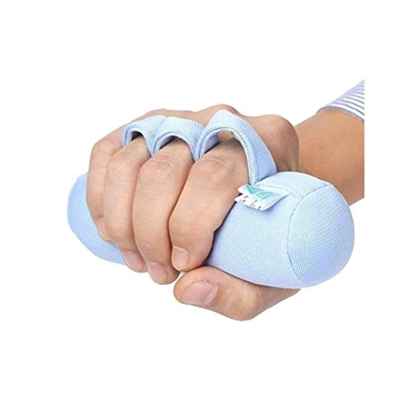 旅行者首相キロメートル指セパレーターパームプロテクター、手拘縮装具、ソフトパームクッションのために、指セパレーターはベッドのためにくる病ハンド高齢者ケアを化膿指拘縮クッション防止の指は指セパレーションフィット右または左の手を傷