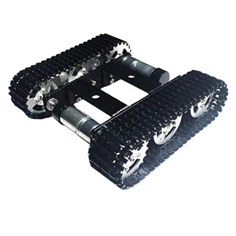 Perfeclan スマートタンクシャーシ 2履帯ロボットタンクカーシャー スマートカーシャーシシ DC9V DIYRC玩具