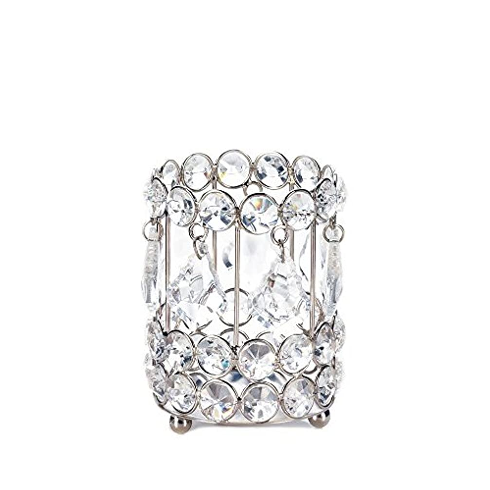 ソーシャルプロフィールスペシャリストGallery of Light 10018136 Super Bling Crystal Drops Candle Holder - 4 in.