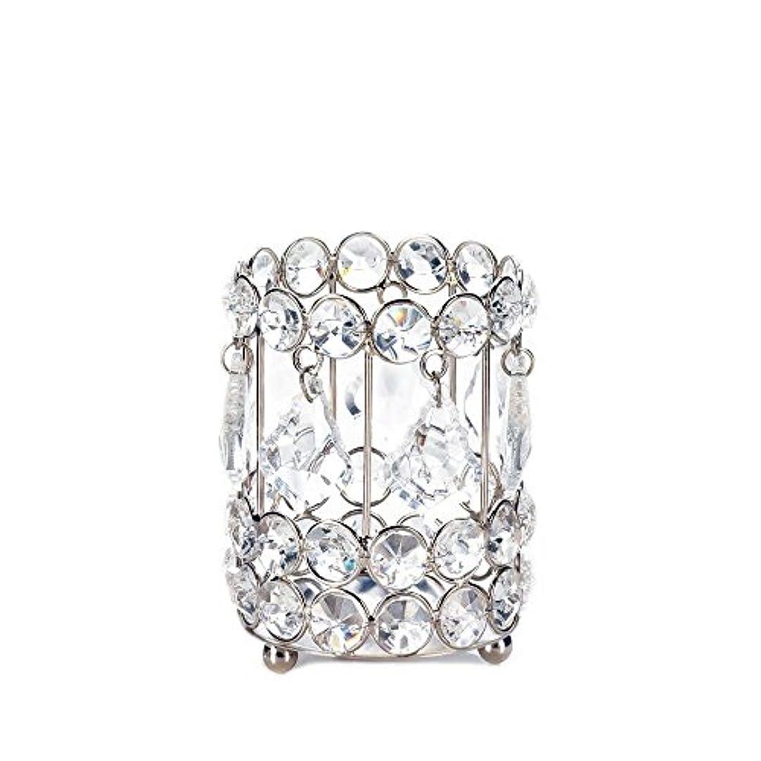 ピクニックをするスモッグラテンGallery of Light 10018136 Super Bling Crystal Drops Candle Holder - 4 in.