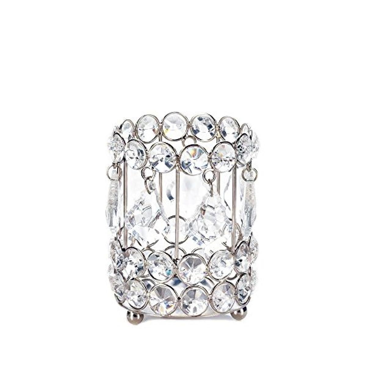 大学院アクセシブル時系列Gallery of Light 10018136 Super Bling Crystal Drops Candle Holder - 4 in.