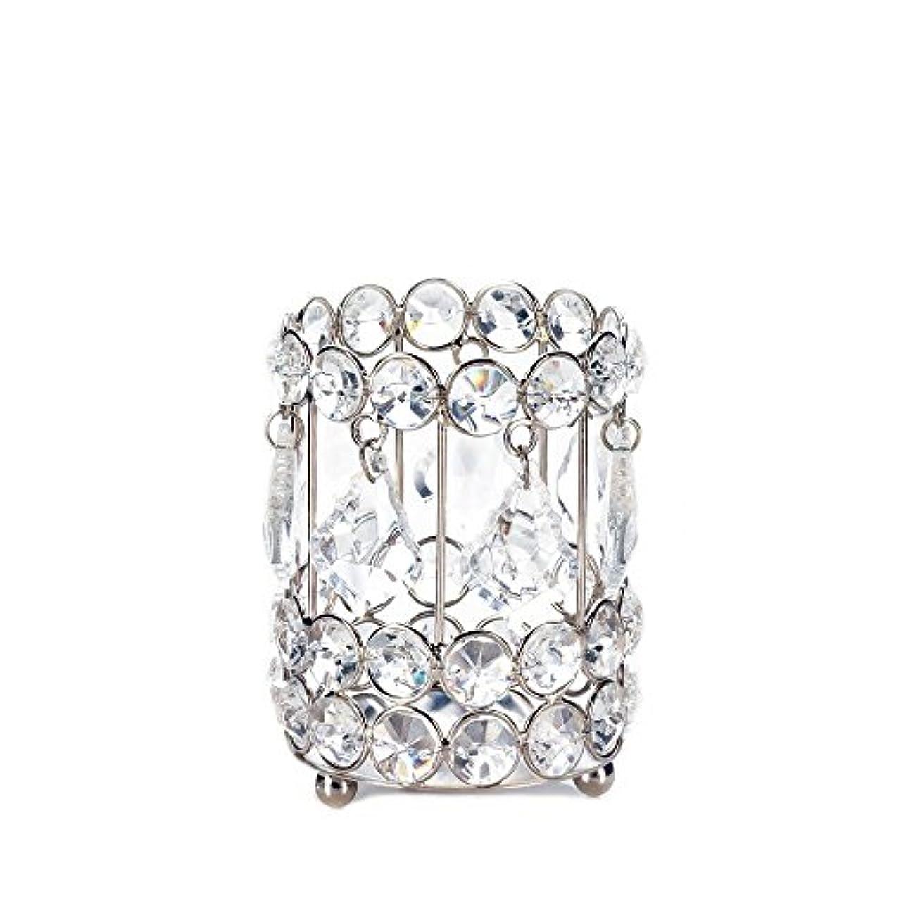 実質的センター広範囲にGallery of Light 10018136 Super Bling Crystal Drops Candle Holder - 4 in.