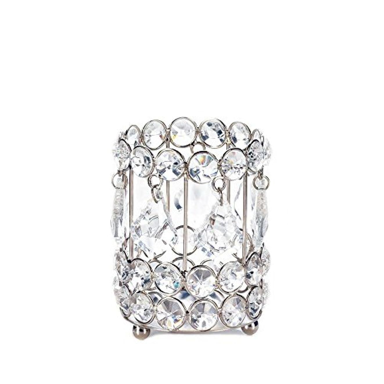 古くなったファウル忌み嫌うGallery of Light 10018136 Super Bling Crystal Drops Candle Holder - 4 in.