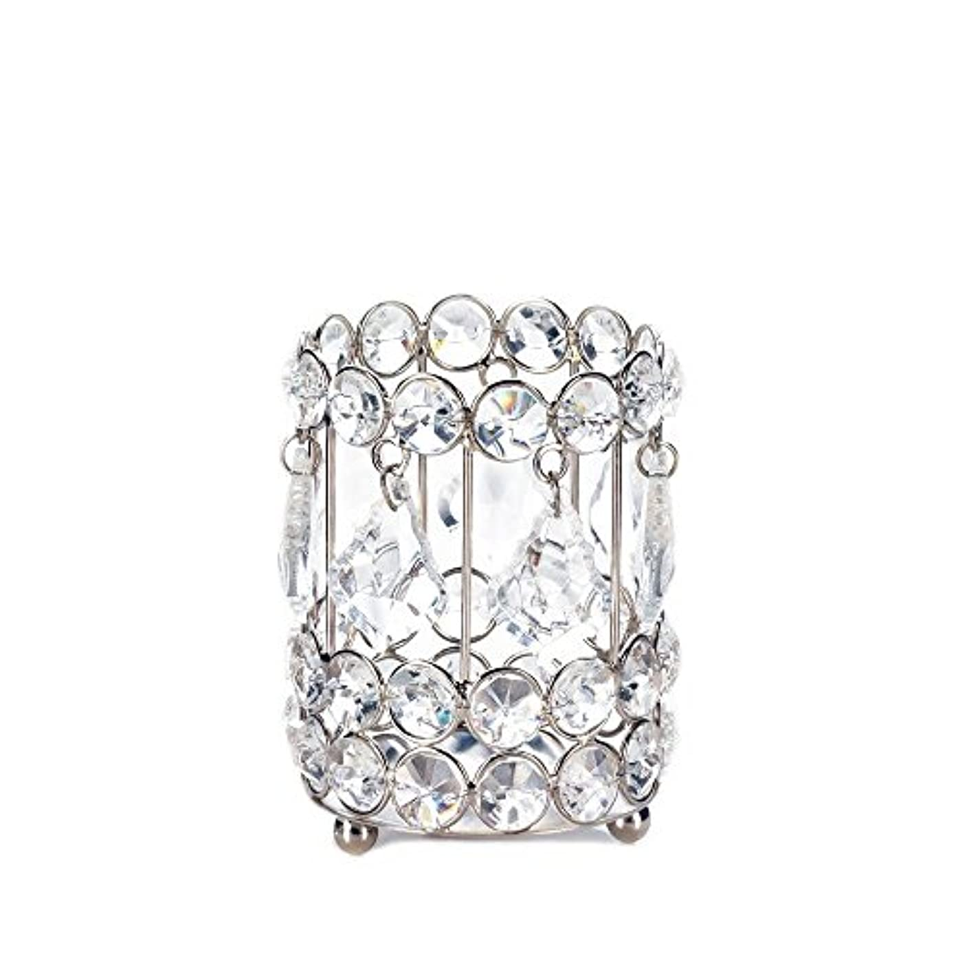 Gallery of Light 10018136 Super Bling Crystal Drops Candle Holder - 4 in.