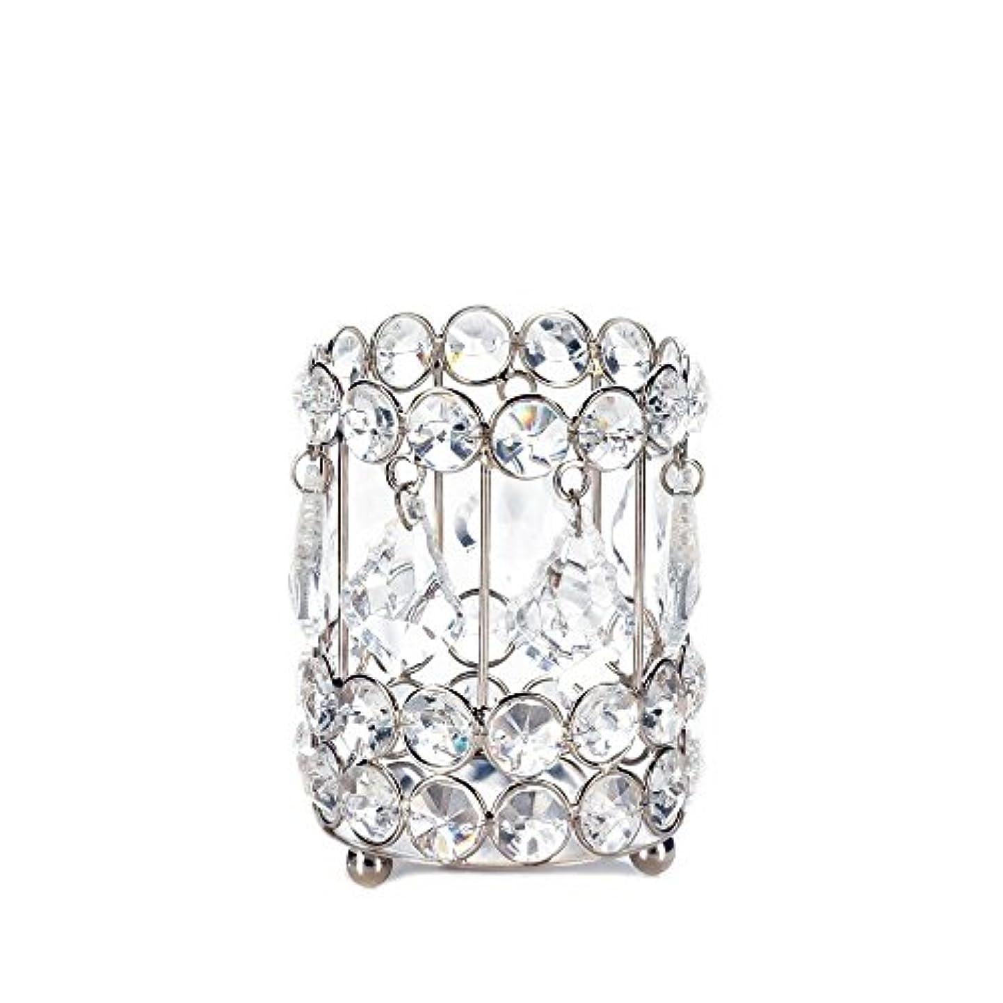ラベンダー助言シャーロットブロンテGallery of Light 10018136 Super Bling Crystal Drops Candle Holder - 4 in.