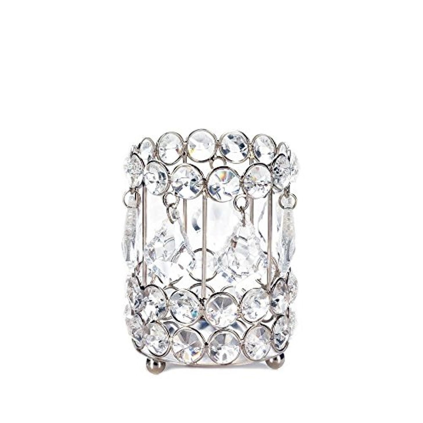 真実サーバント合計Gallery of Light 10018136 Super Bling Crystal Drops Candle Holder - 4 in.