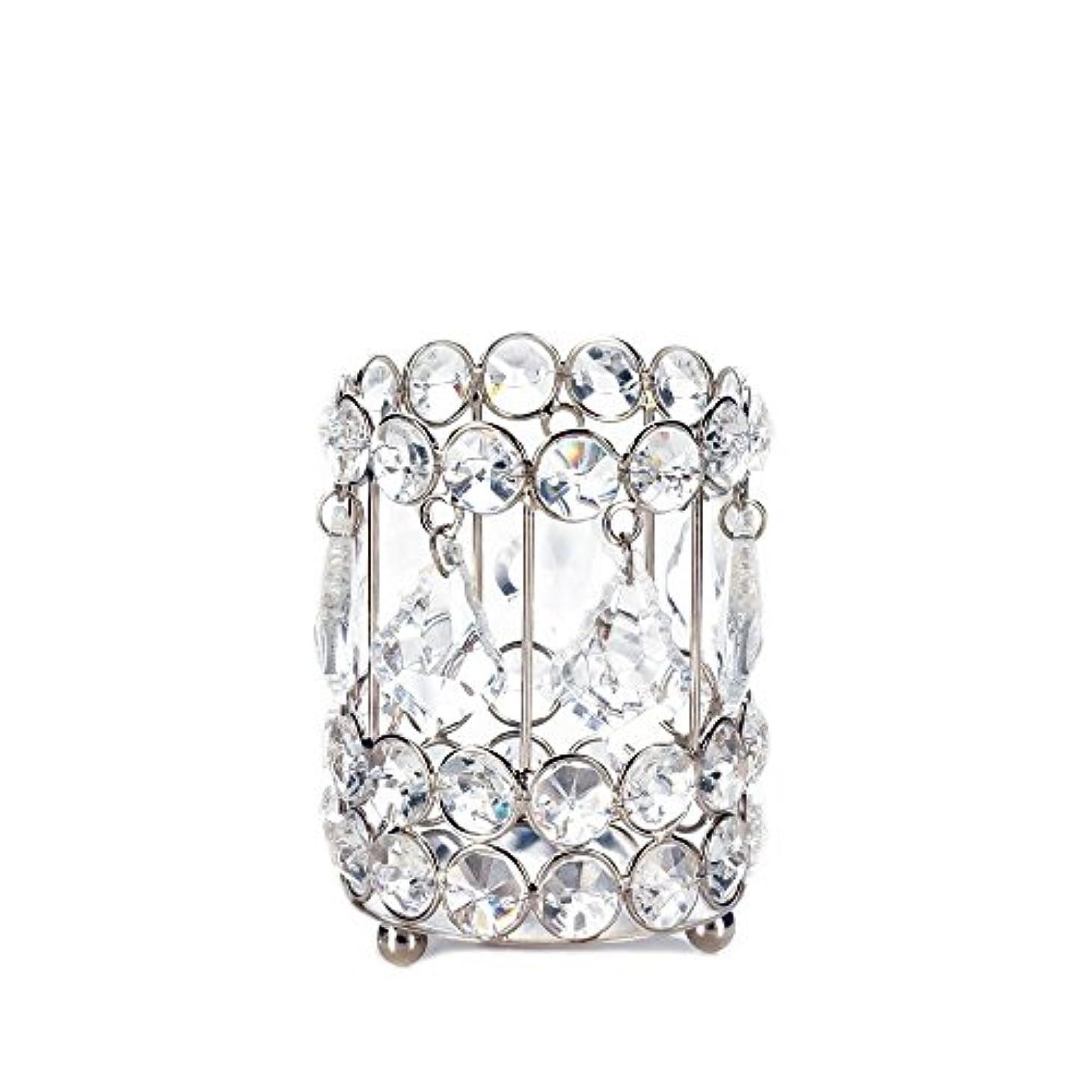 化学薬品ベックスリサイクルするGallery of Light 10018136 Super Bling Crystal Drops Candle Holder - 4 in.
