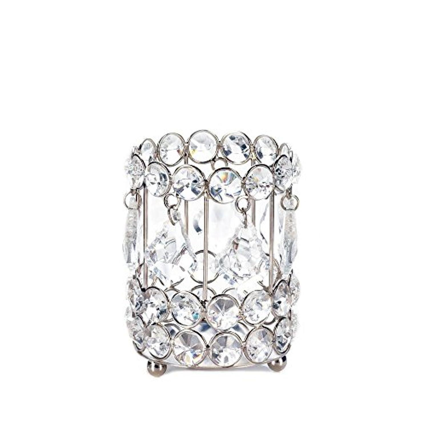 厳オフセットトライアスリートGallery of Light 10018136 Super Bling Crystal Drops Candle Holder - 4 in.